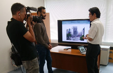 Professor Osaragi speaks to BBC about regional disaster prevention plan