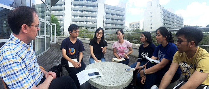 Autophagy planning meeting with TAs and OEDO staff on Suzukakedai Campus