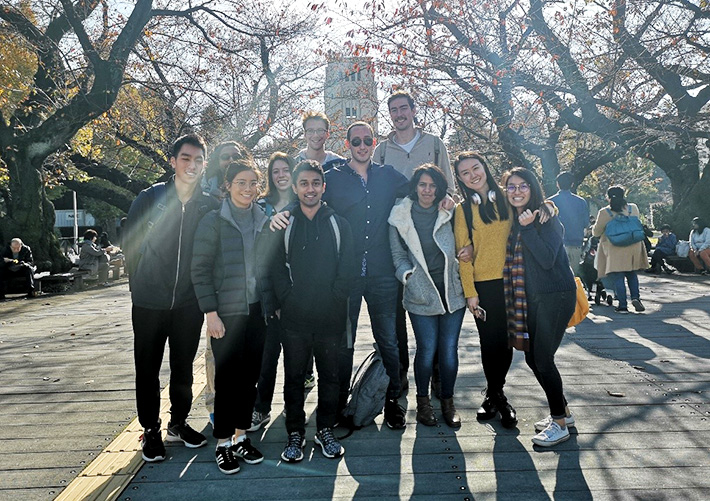 Tokyo Tech Winter Program participants at Ookayama Campus