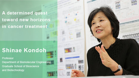 A determined quest toward new horizons in cancer treatment ― Professor Shinae Kondoh