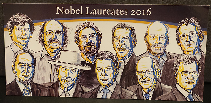 Group portrait of 2016 laureates