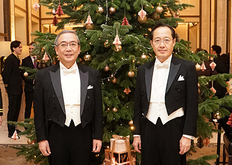 Mishima (left) and Masu at Grand Hôtel lobby
