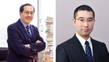 Professor Hirokazu Urabe and Associate Professor Takeshi Hata