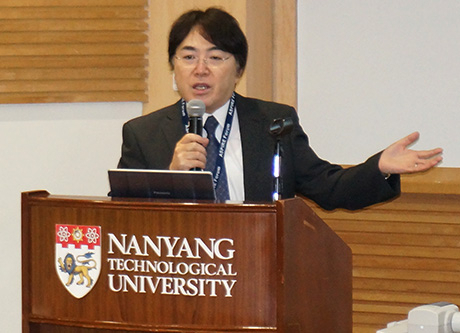 Professor Aoki's talk on research activities using Tokyo Tech's supercomputer TSUBAME