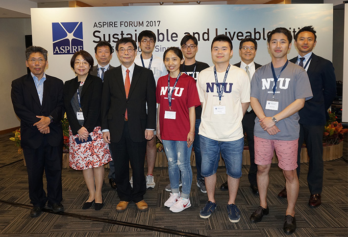 Tokyo Tech delegation (Ohashi, front right)