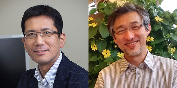 Prof. Yasuyuki Ohkawa of Kyushu University (left) and Prof. Hiroshi Kimura of Tokyo Tech