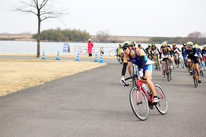 Hara ahead of the pack at the Calfman Japan Duathlon Grand Prix