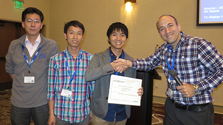 Associate Professor Kenji Kise got the Best Paper Award at FCCM 2017, Napa, USA