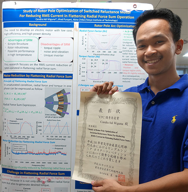 Candra Adi Wiguna (M2) with his poster