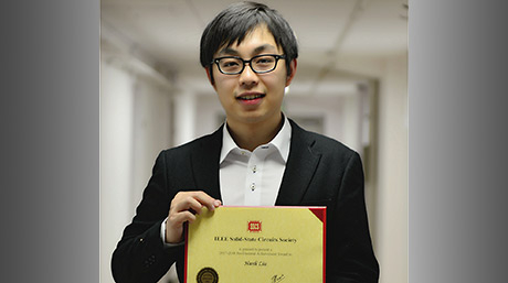 Hanli LIU won the IEEE SSCS Predoctoral Achievement Award