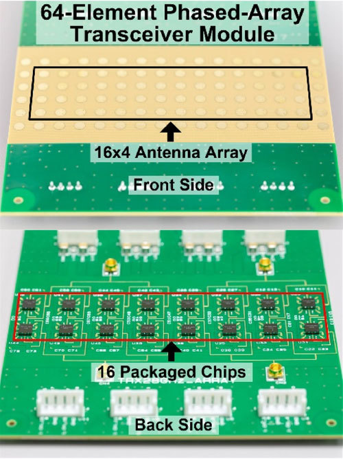 Figure 3. Printed circuit board with 64 antenna elements.