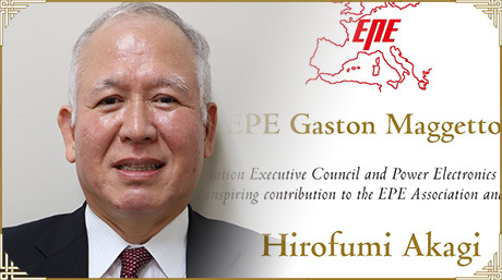 Prof. Emeritus Hirofumi Akagi receives Gaston Maggetto Medal from EPE