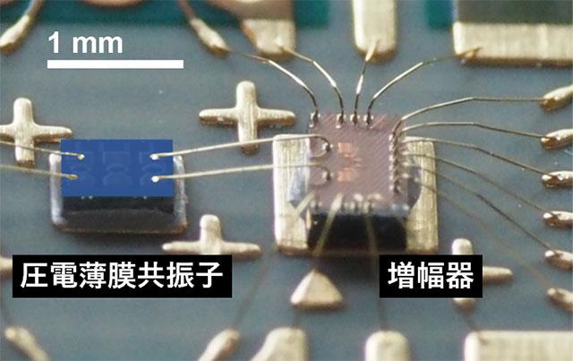 図3. 厚み縦振動の機械共振を用いた発振器