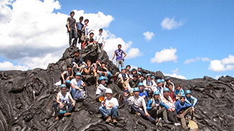 Experiencing the earth's dynamism through overseas field trips