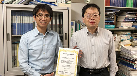 Professor Kazuhiko Fukawa and Assistant Professor Yuyuan Chang received the Best Paper Award of the international conference SmartCom2018.