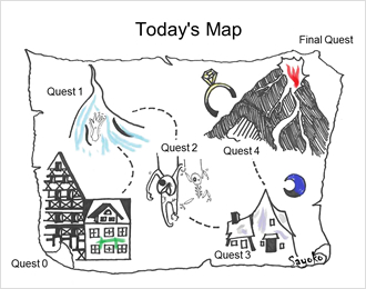 Binary quest map