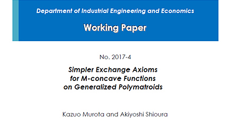 """Department of Industrial Engineering and Economics Working Paper 2017-4"" is now available"