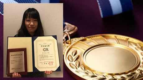 Yuko Kuroki (M2) of the Matsui Lab. receives the Student Thesis Award of Operations Research Society of Japan