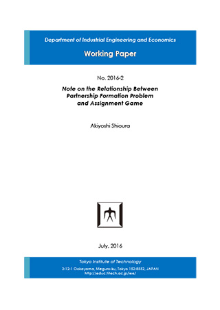 Department of Industrial Engineering and Economics Working Paper 2016-2