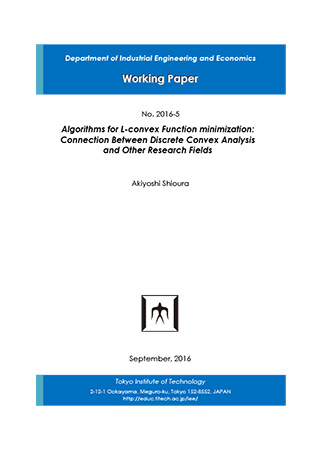 Department of Industrial Engineering and Economics Working Paper 2016-5