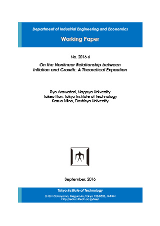 Department of Industrial Engineering and Economics Working Paper 2016-6