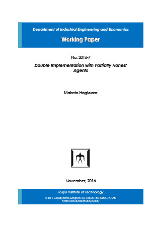 Department of Industrial Engineering and Economics Working Paper 2016-7