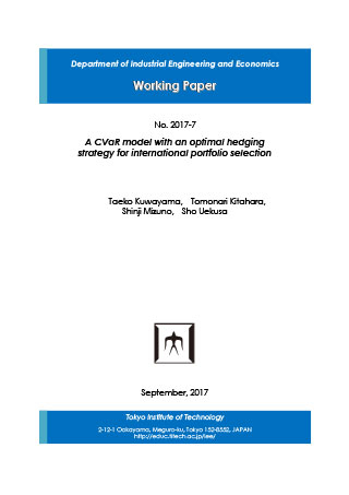 Department of Industrial Engineering and Economics Working Paper 2017-7