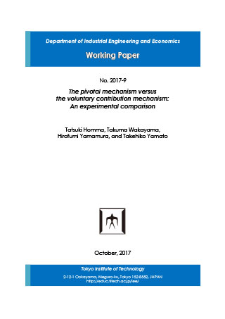 Department of Industrial Engineering and Economics Working Paper 2017-9