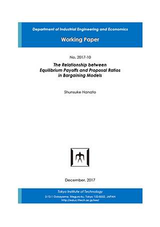 Department of Industrial Engineering and Economics Working Paper 2017-10