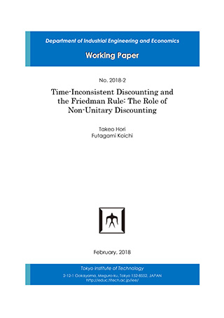 Department of Industrial Engineering and Economics Working Paper 2018-2