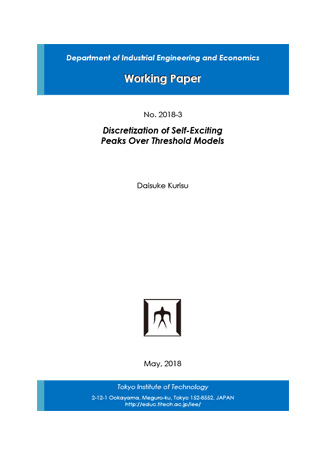 Department of Industrial Engineering and Economics Working Paper 2018-3