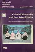Colonial Modernity and East Asian Musics. Special issue of The World of Music (New Series). Co-edited with Yamauchi Fumitaka.