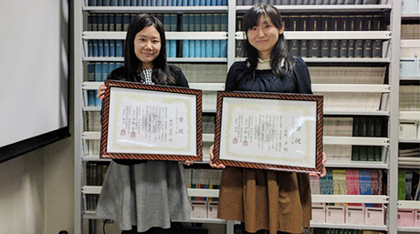 Ayumi Amano and Mana Higaki (Inoue Sakaguchi lab) received the Best Presentation Award at Symposium on Strength of Materials at High Temperatures (7th - 9th December 2017, Kumamoto) of the Society of Materials Science, Japan.