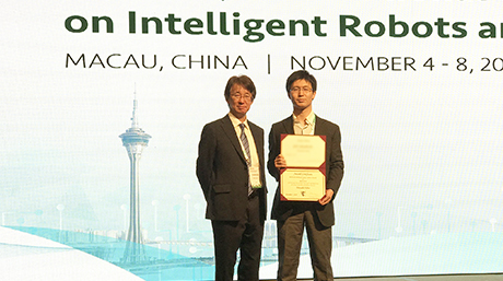 Assist. Prof. Hiroyuki Nabae received the SICE International Young Authors Award in IROS2019.