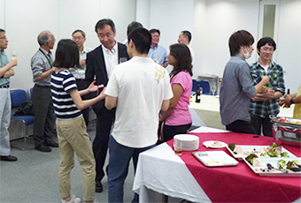 Welcome party with Prof. Kajita
