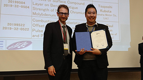 Mr. Pop-Paul Ewphun (Kosaka-Sato Lab.) won the High Quality Paper Award