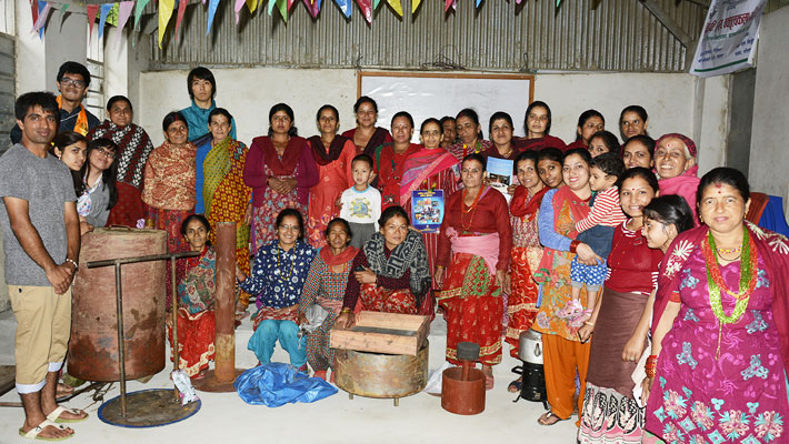 Participants of workshop on bio-char production
